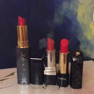 Trio of lipsticks